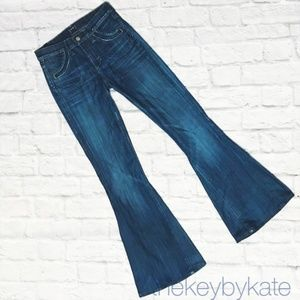 Citizens of Humanity Angie Super Flare Blue Jeans